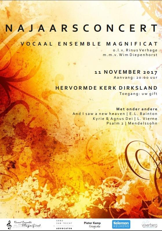 Najaarsconcert Poster Vocaal Ensemble Magnificat